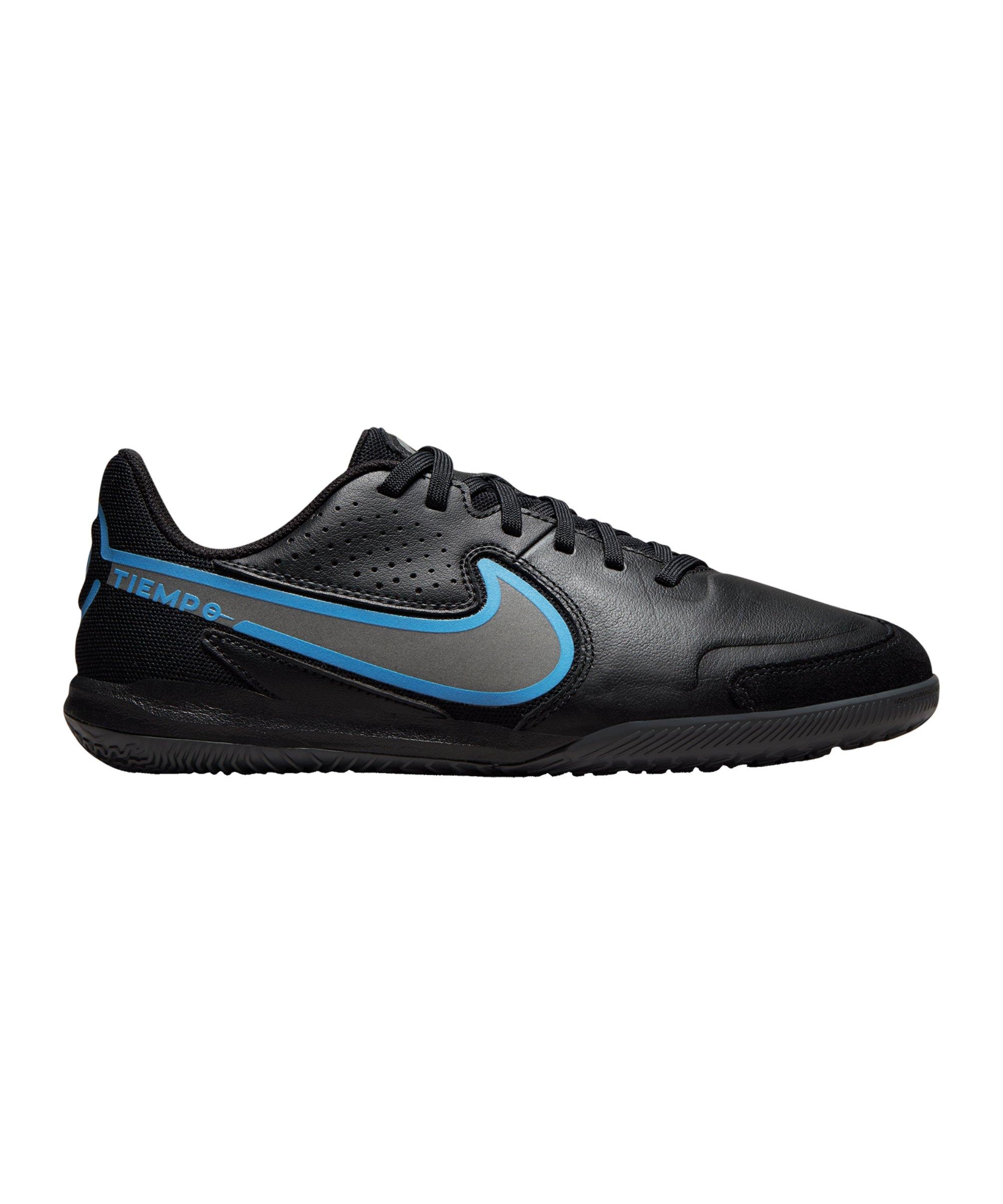 Nike Tiempo Legend IX Renew Academy IC Halle Kids Schwarz Blau F004 - schwarz