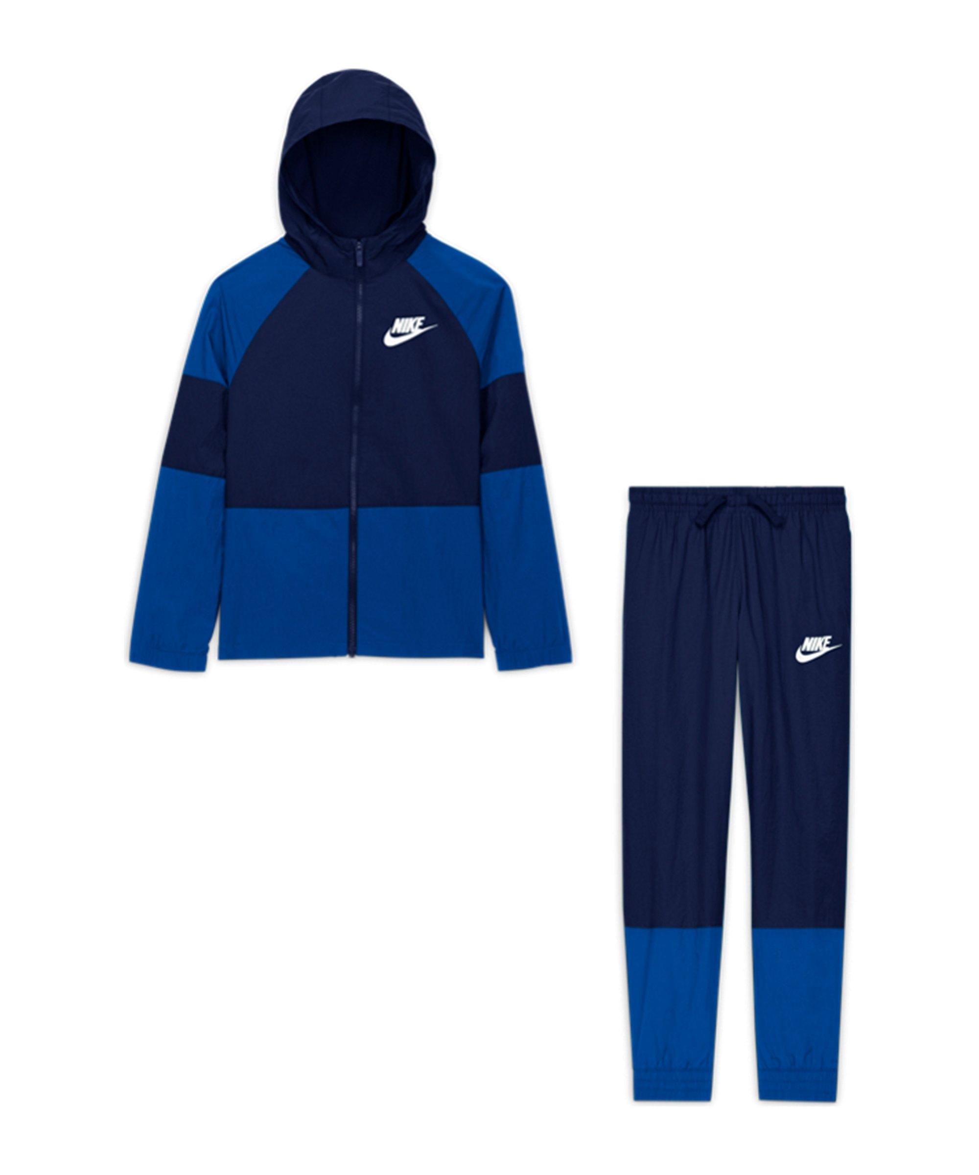Nike HBR Woven Freizeitanzug Kids Blau F492 - blau
