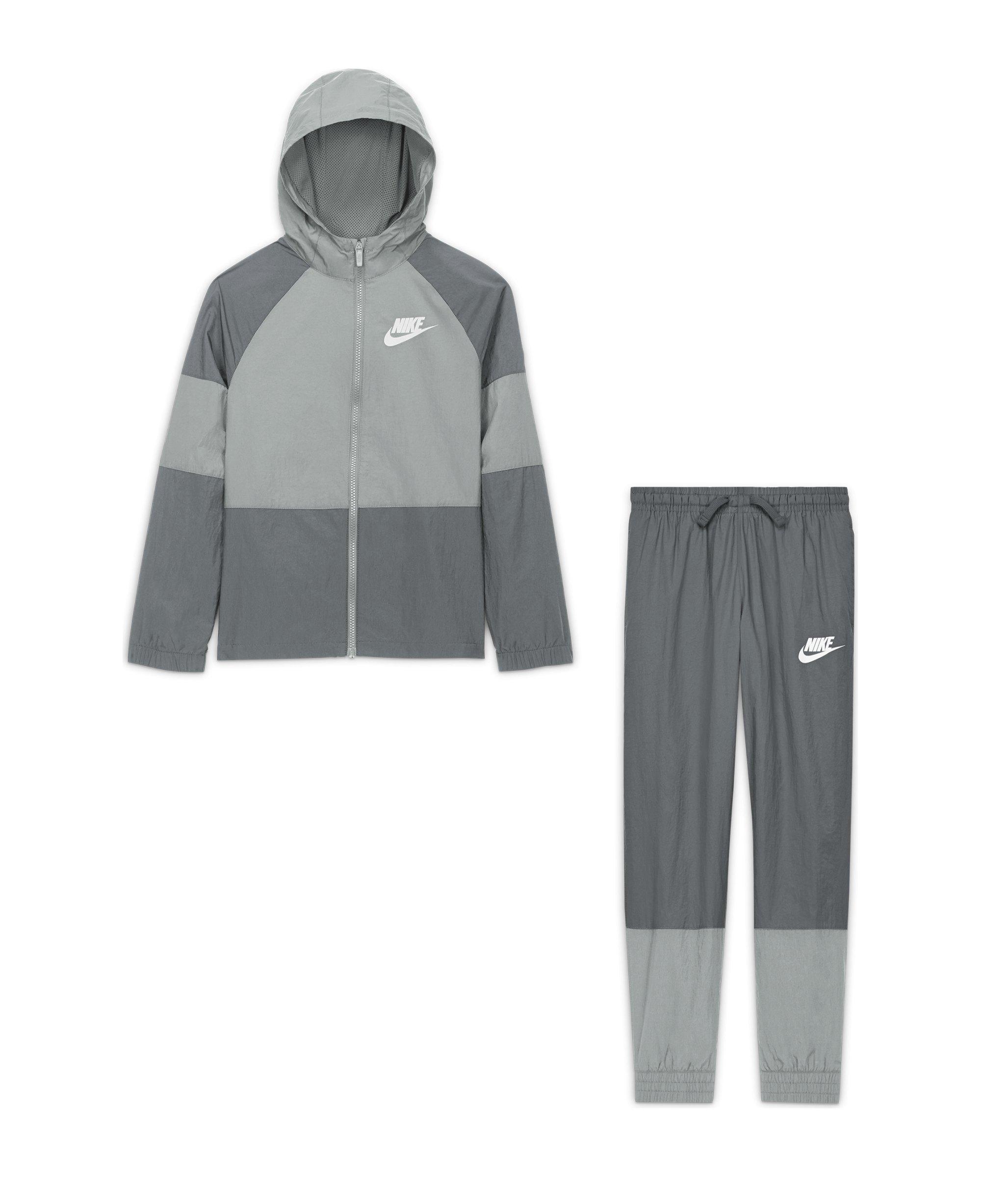 Nike HBR Woven Freizeitanzug Kids Grau F077 - grau