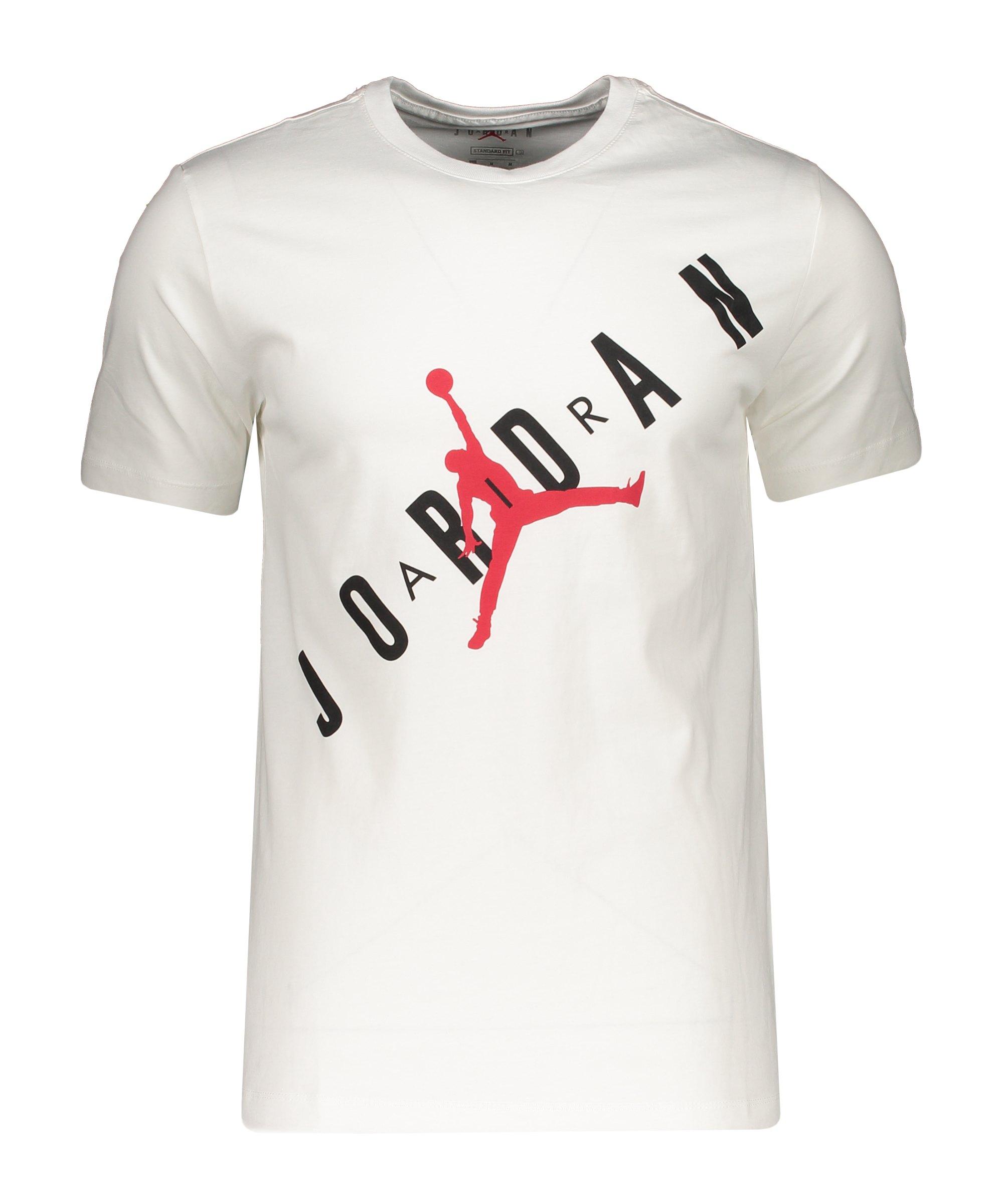 Jordan HBR T-Shirt Weiss Schwarz F100 - weiss
