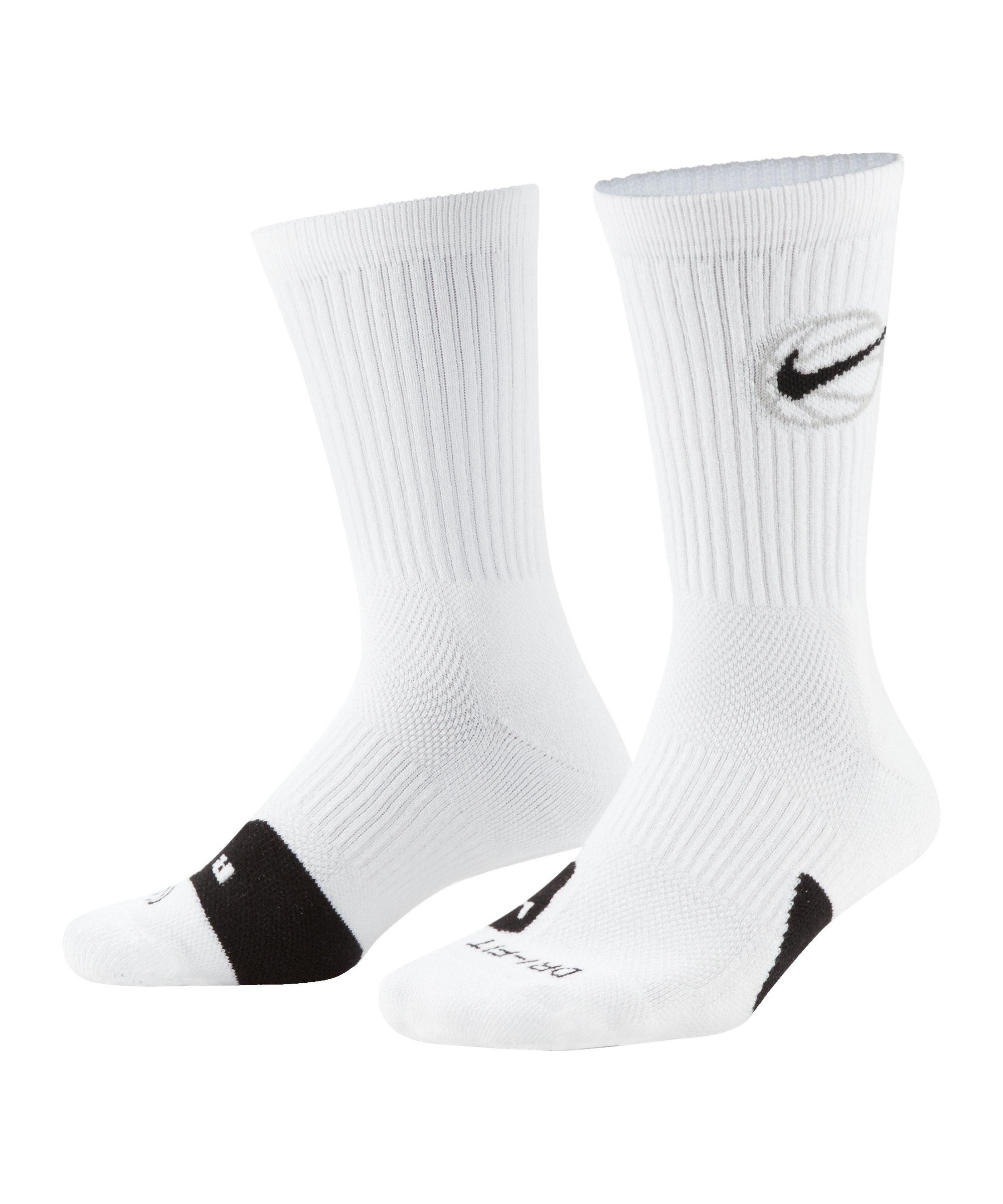 Nike Everyday Crew Socken Weiss Schwarz F100 - weiss