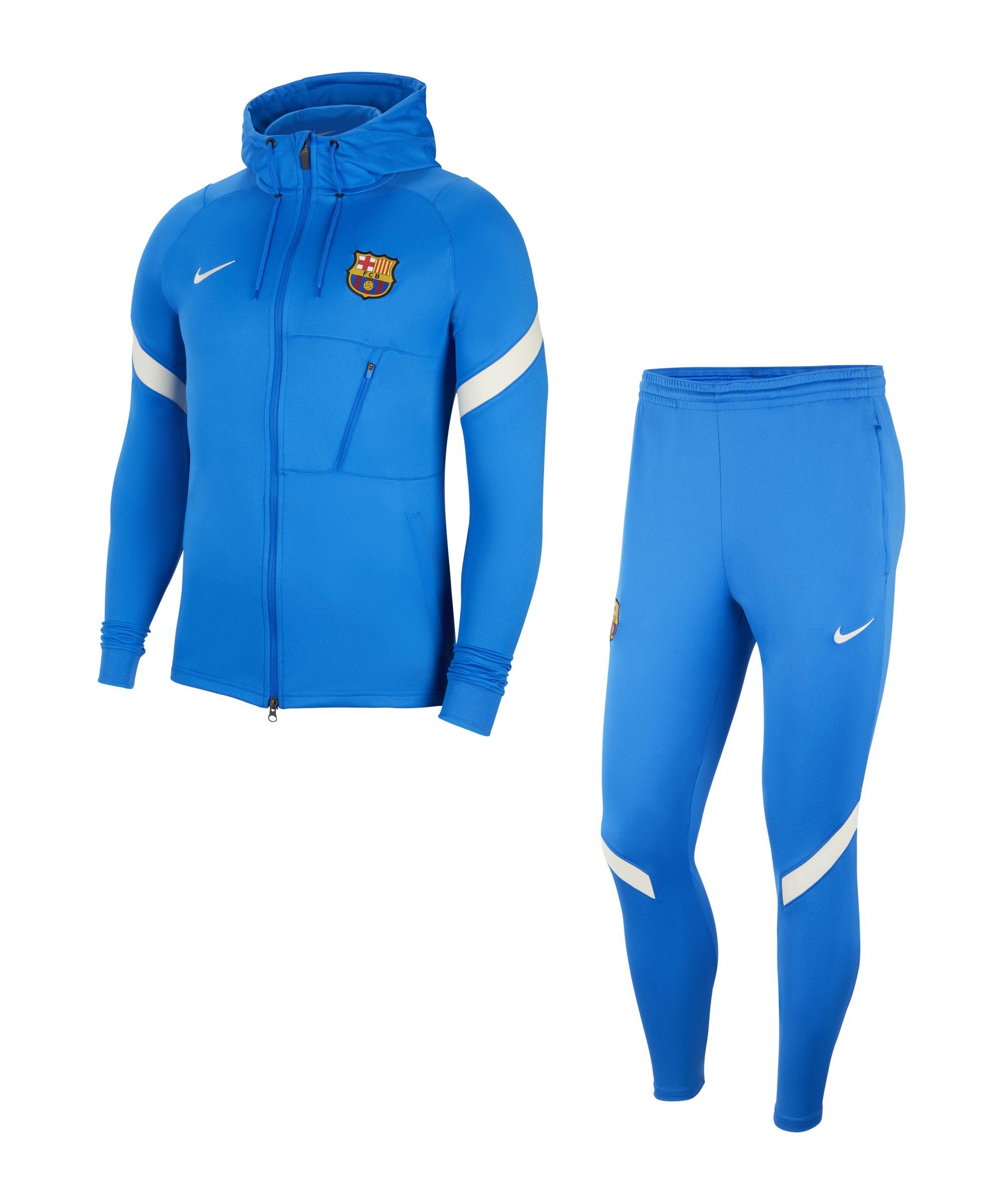 Nike FC Barcelona Strike Trainingsanzug F428 - blau