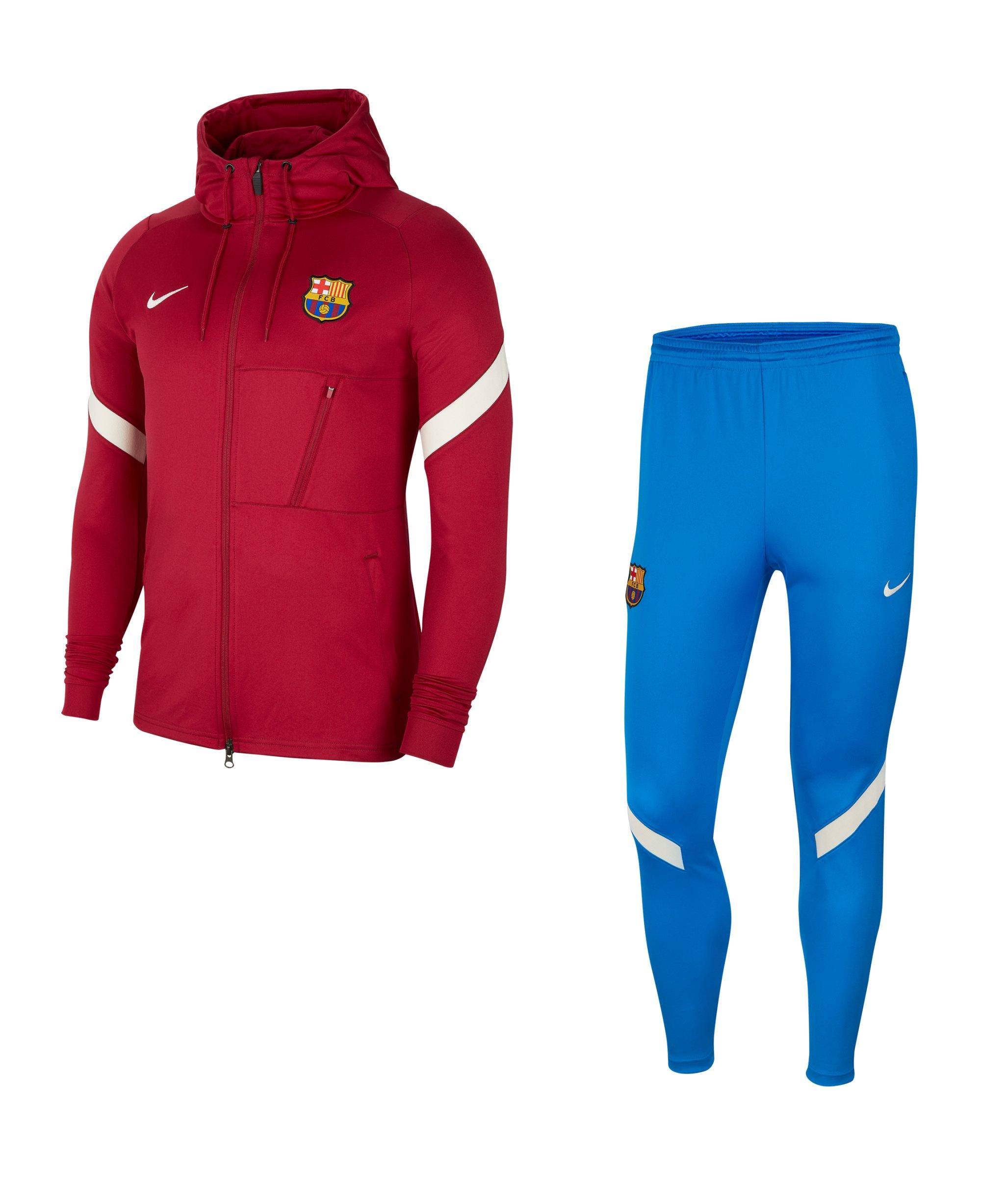Nike FC Barcelona Strike Trainingsanzug F621 - rot