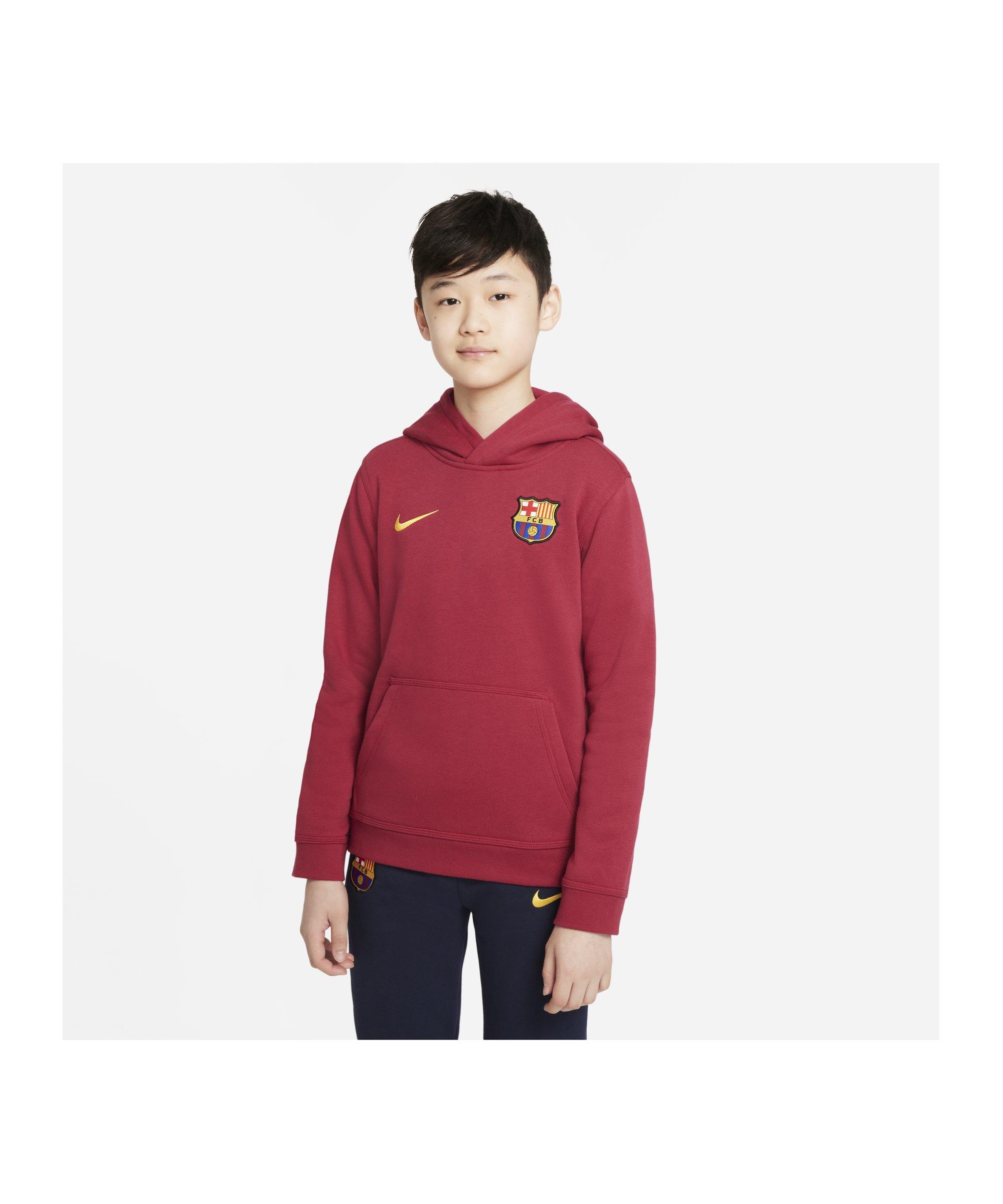 Nike FC Barcelona Kapuzenjacke Kids Rot F620 - rot