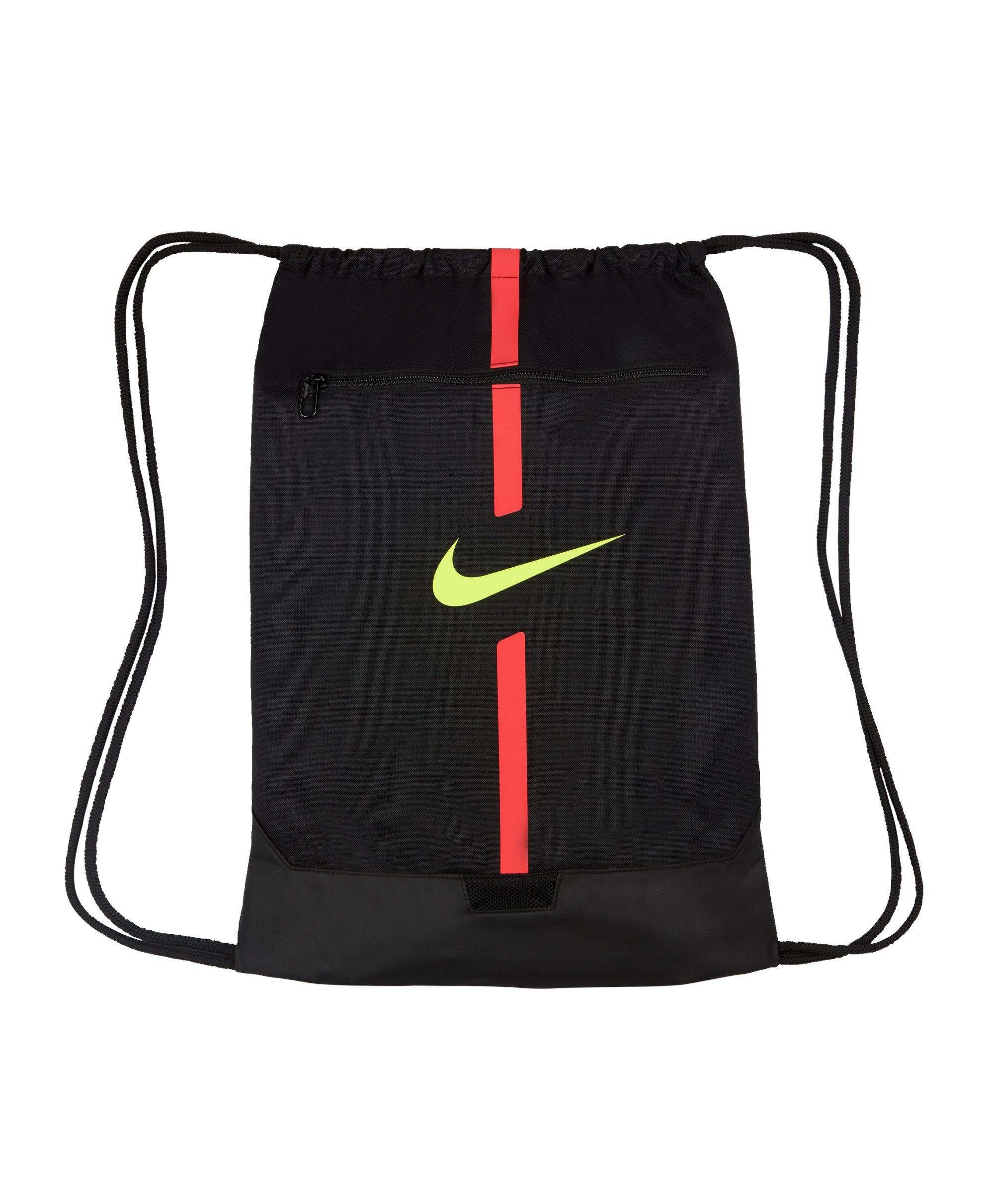 Nike Academy Gymsack Schwarz Rot Gelb F011 - schwarz