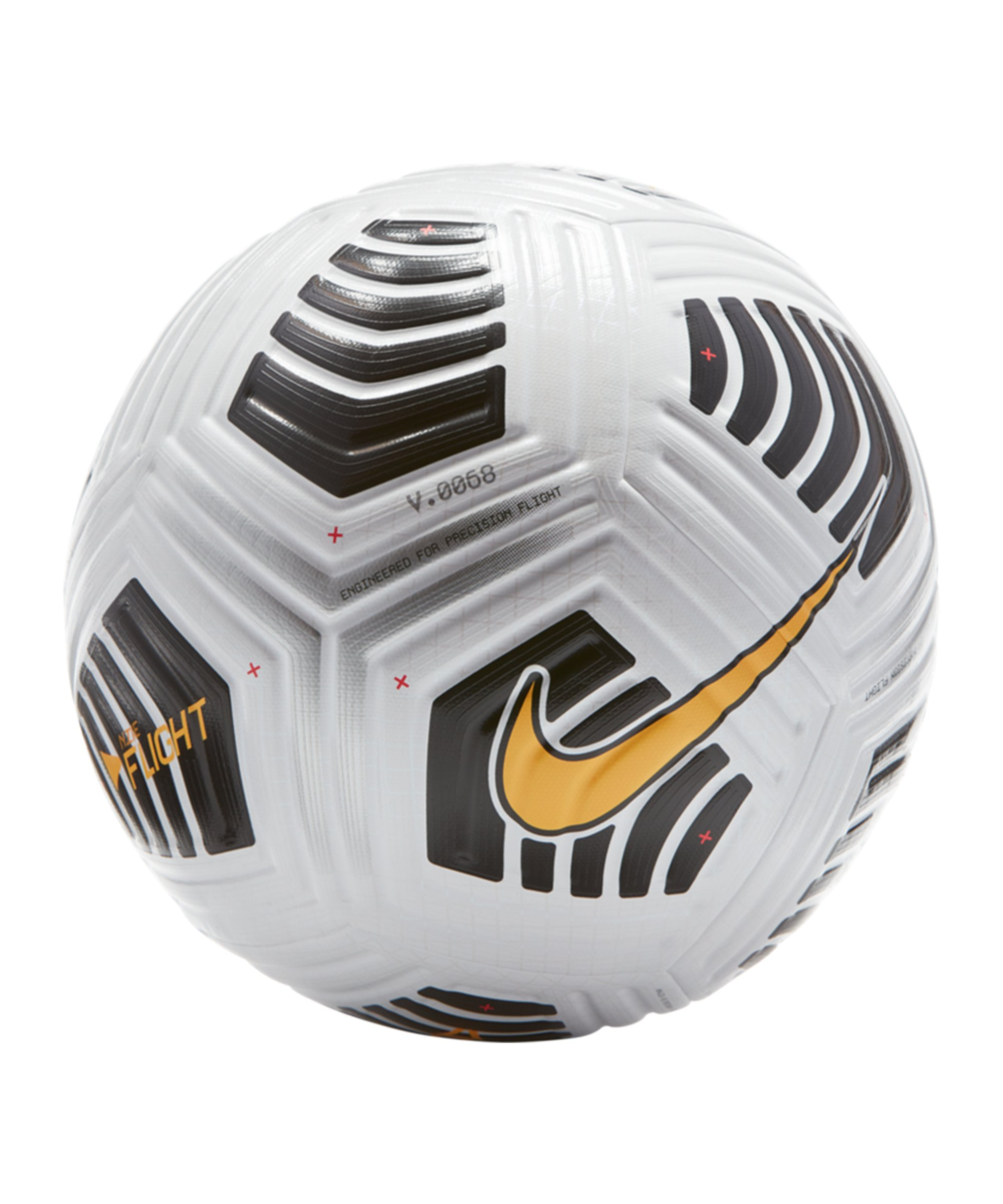 Nike Flight Ball Weiss Orange F100 - weiss