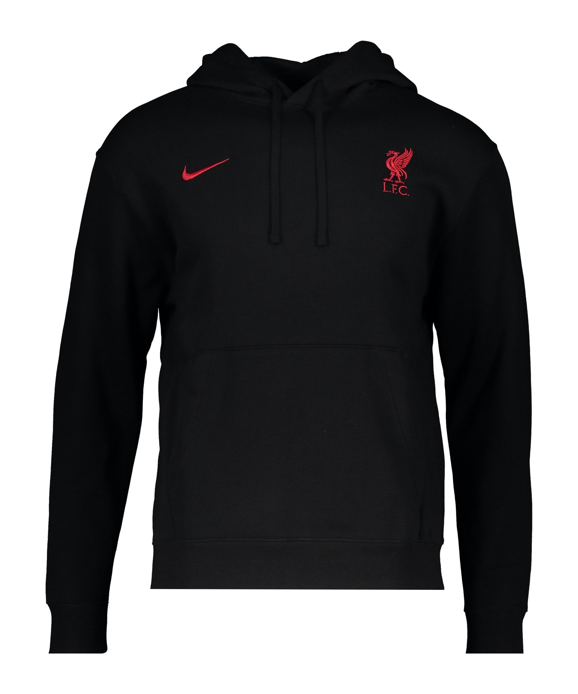 Nike FC Liverpool Club Hoody Schwarz Rot F012 - schwarz