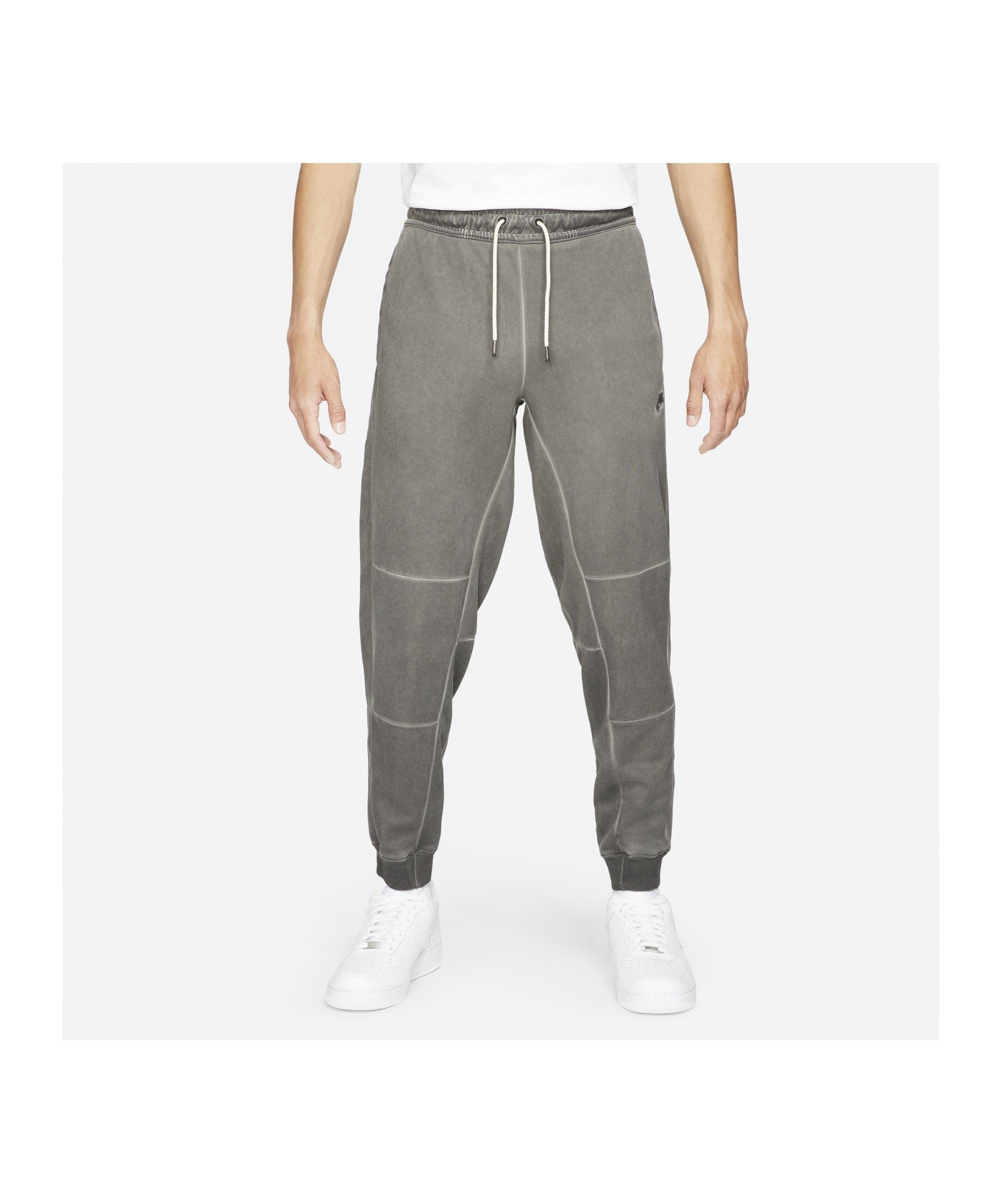 Nike Revival Wash Jogginghose Schwarz F010 - schwarz