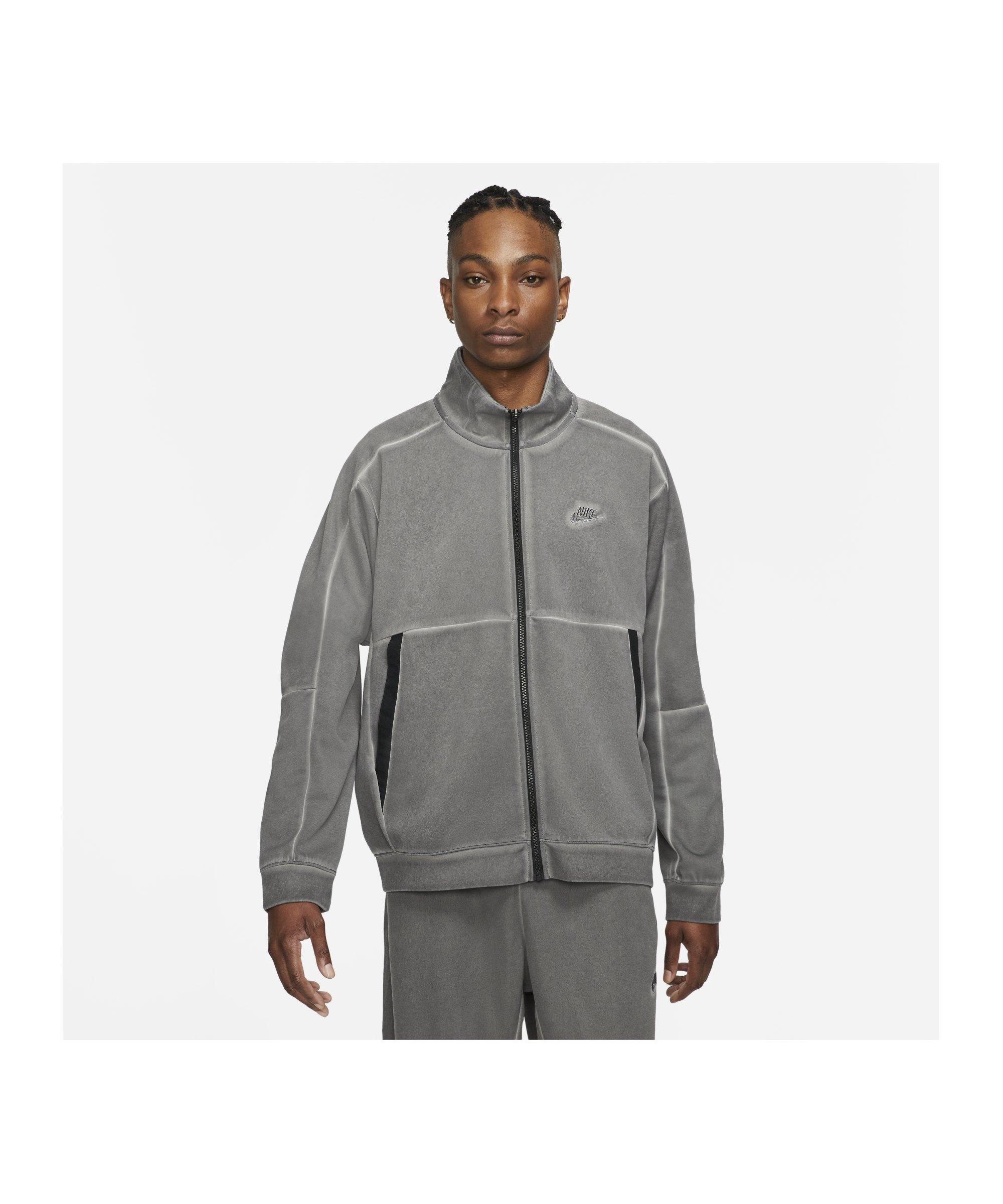 Nike Revival Wash Jacke Schwarz F010 - schwarz