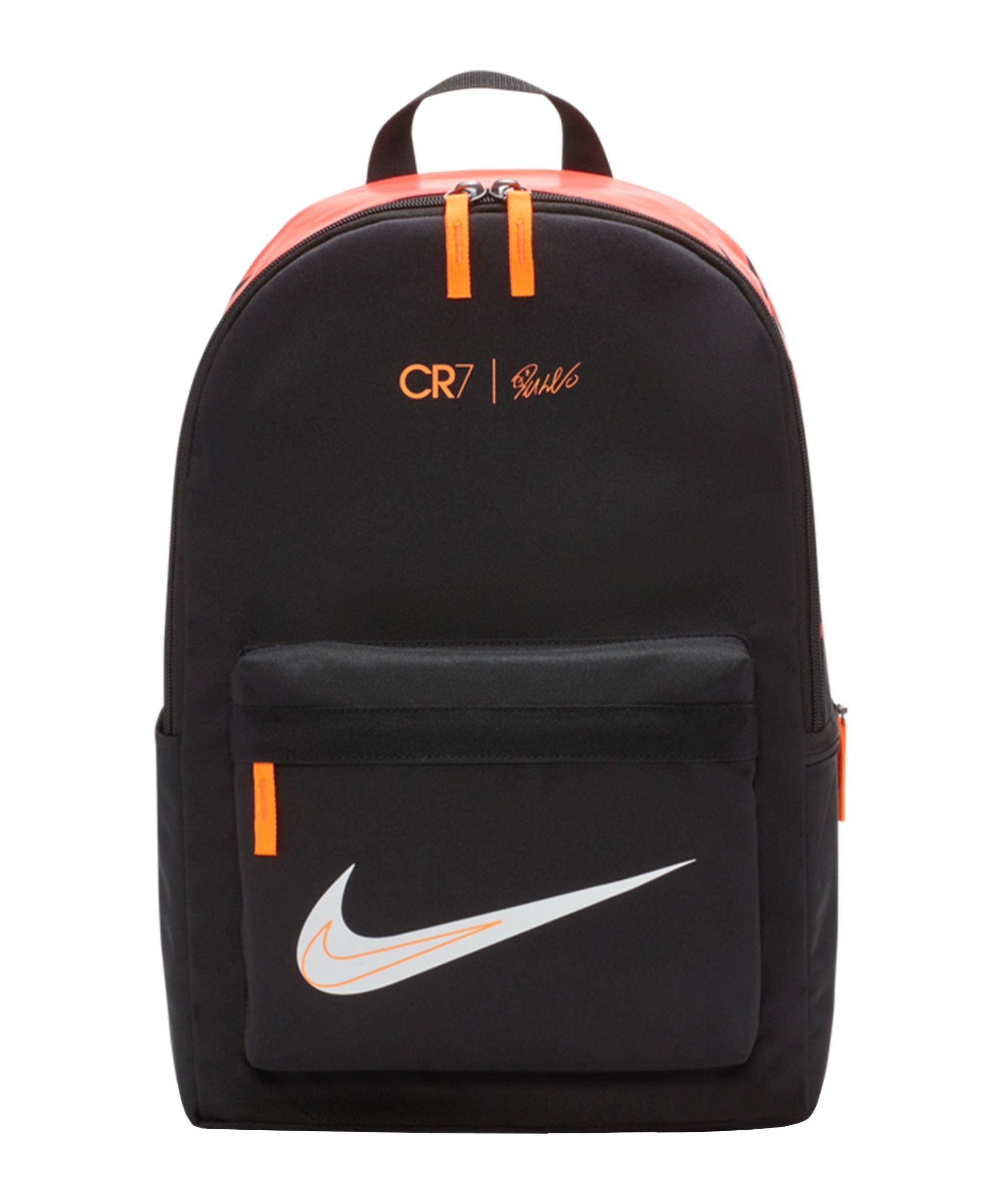 Nike CR7 Rucksack Schwarz Orange F010 - schwarz