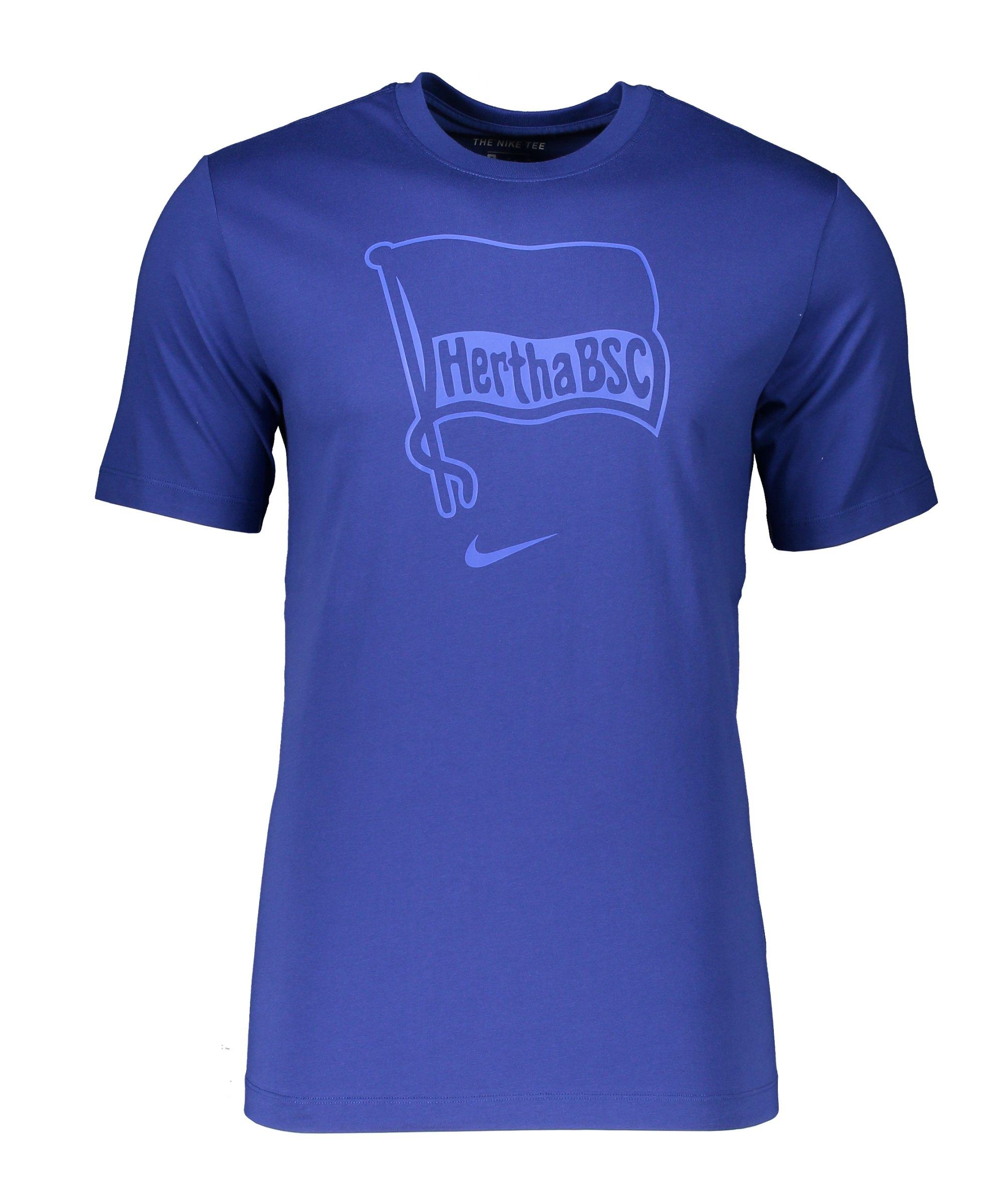 Nike Hertha BSC Berlin Evergreen T-Shirt Blau F455 - blau