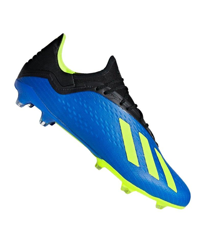 adidas X 18.2 FG Blau Gelb - blau