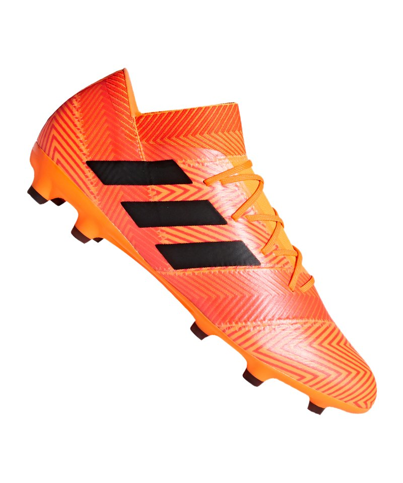 adidas NEMEZIZ 18.2 FG Orange Schwarz - orange