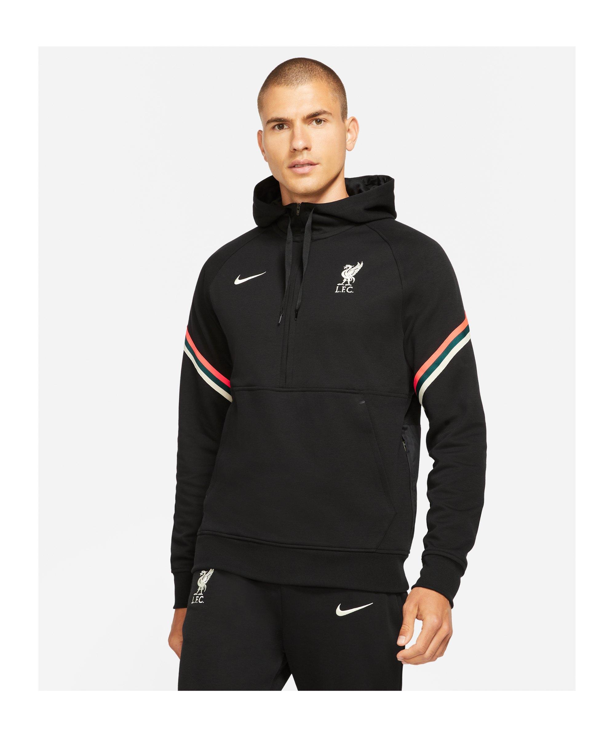 Nike FC Liverpool HalfZip Sweatshirt Schwarz F010 - schwarz