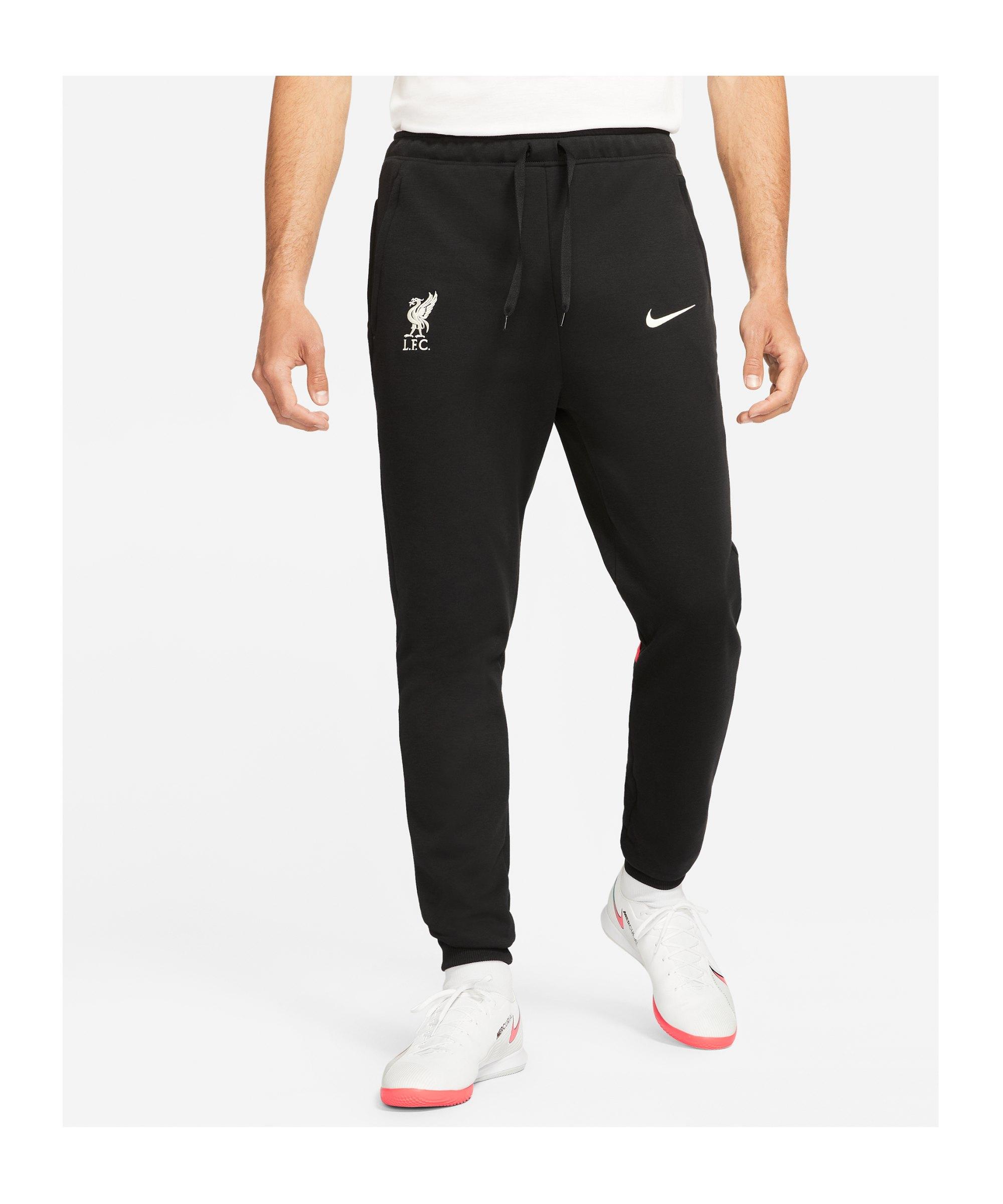 Nike FC Liverpool Travel Jogginghose Schwarz F010 - schwarz