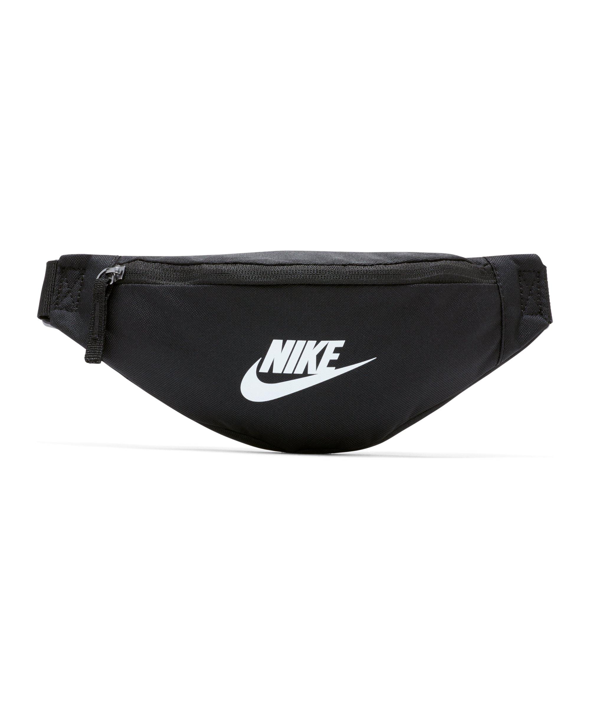 Nike Heritage Hüfttasche Schwarz Weiss F010 - schwarz