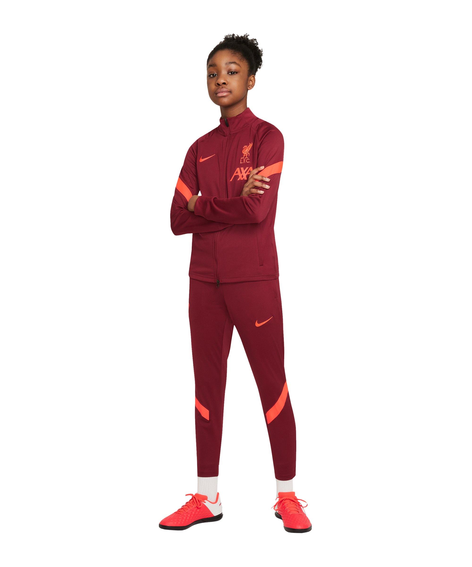 Nike FC Liverpool Strike Trainingsanzug Kids F678 - rot