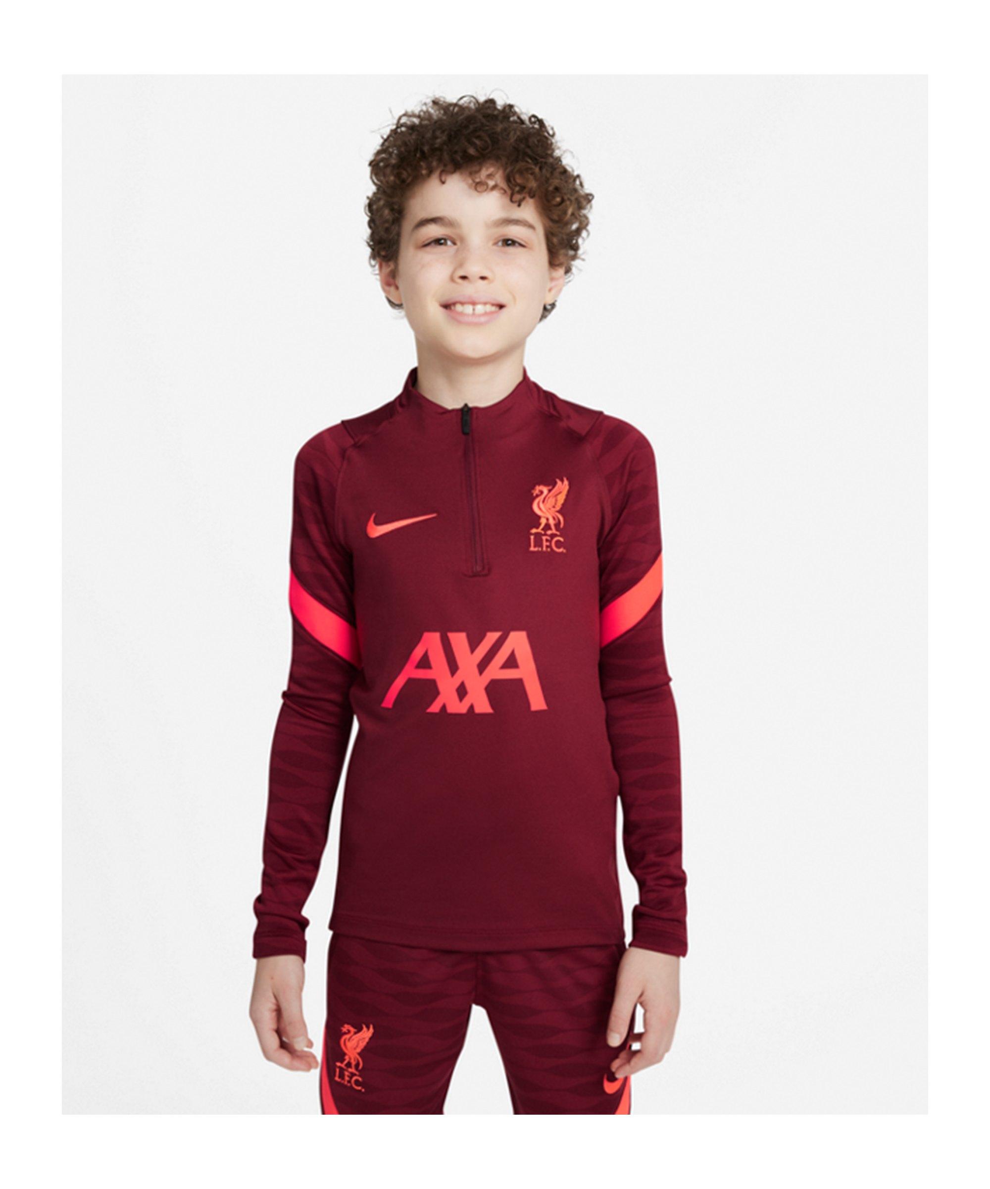 Nike FC Liverpool Strike HalfZip Sweatshirt Kids F678 - rot