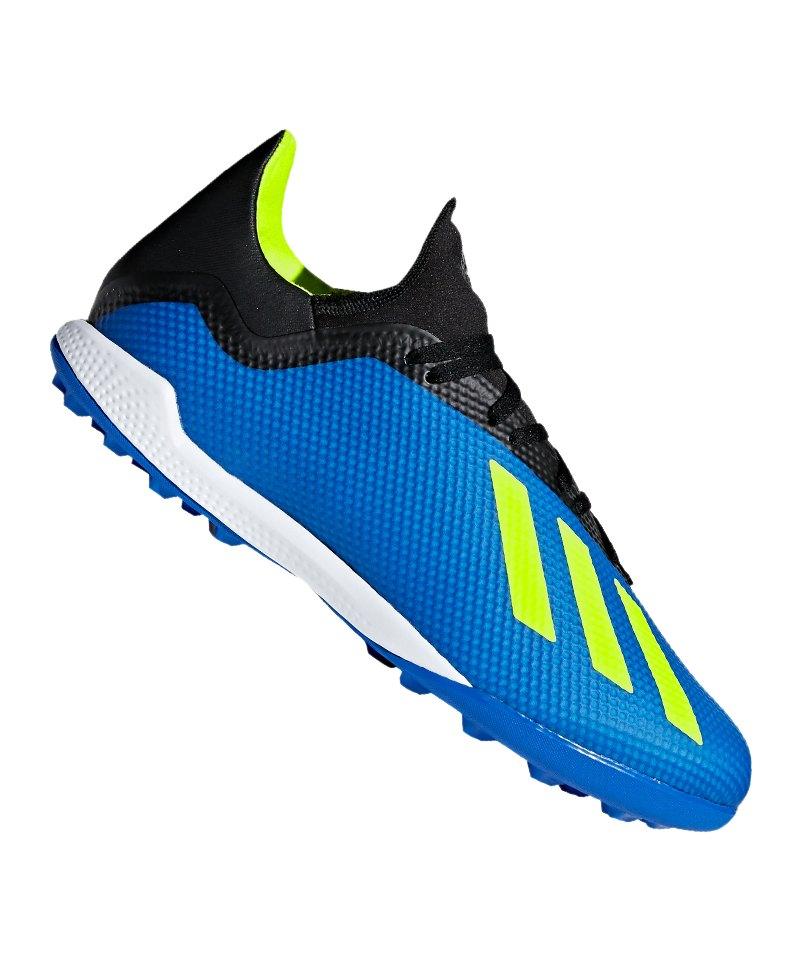 adidas X Tango 18.3 TF Blau Gelb - blau