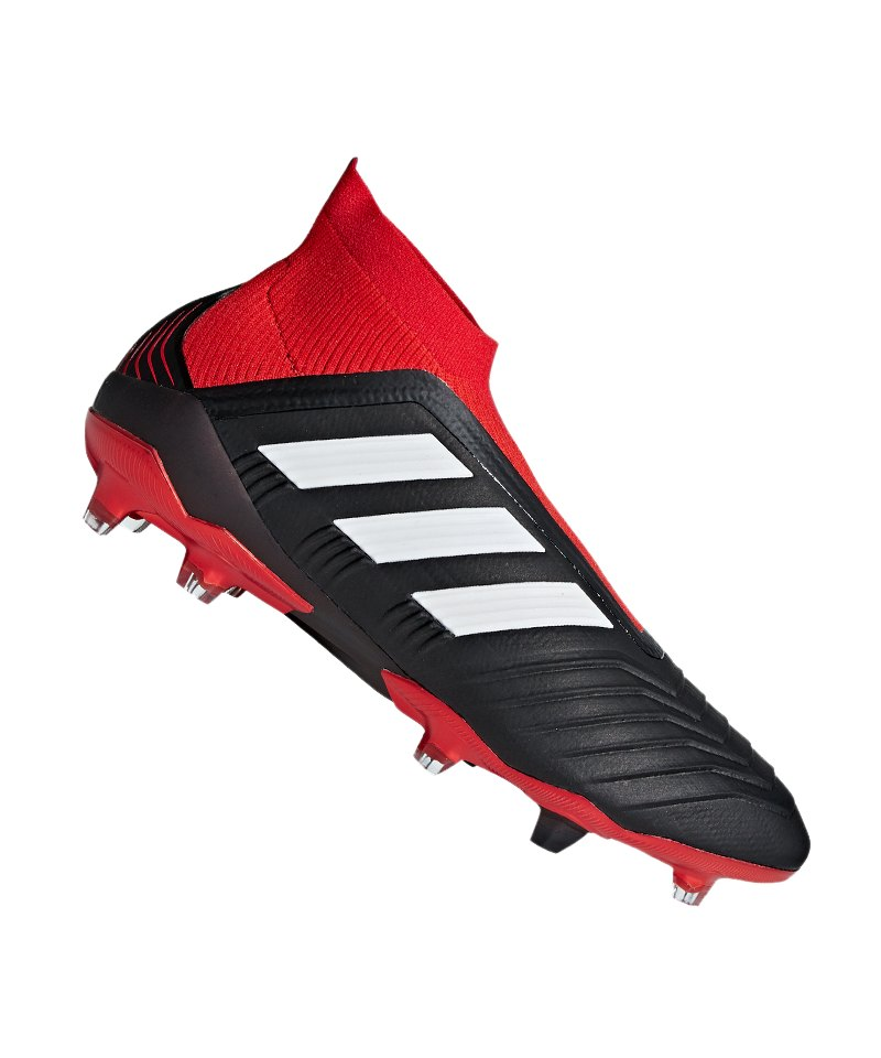 adidas Predator 18+ FG Schwarz Rot - schwarz