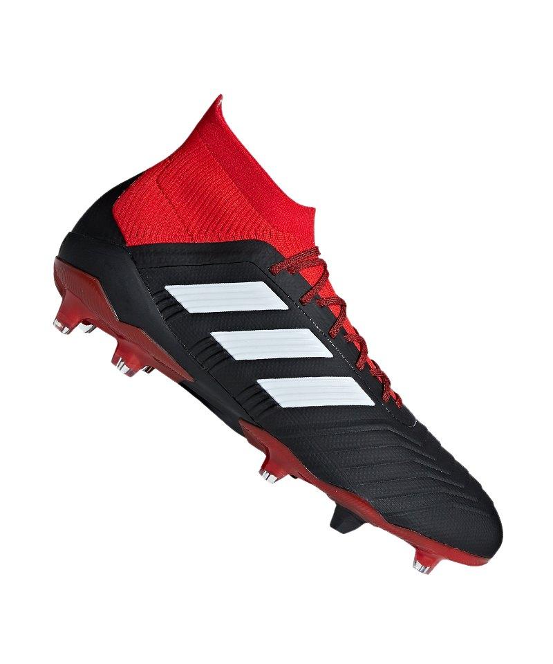 adidas Predator 18.1 FG Schwarz Rot - schwarz