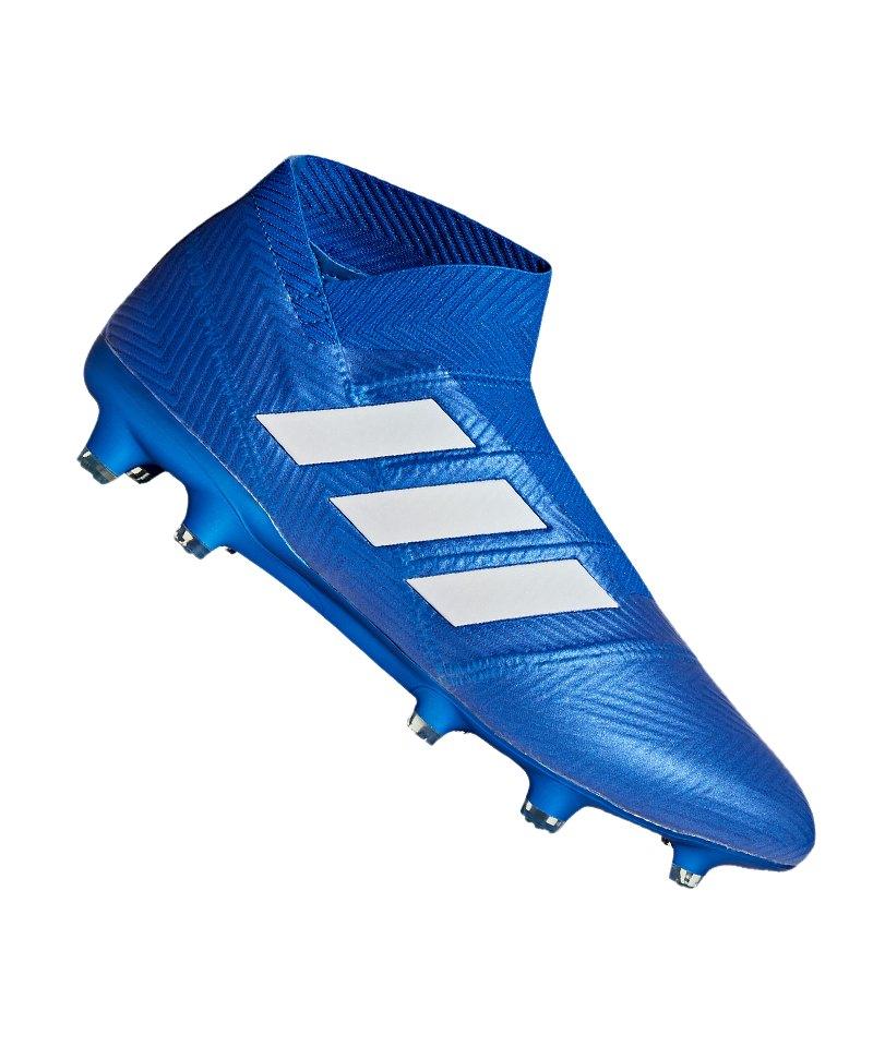 adidas NEMEZIZ 18+ FG Blau Weiss - blau