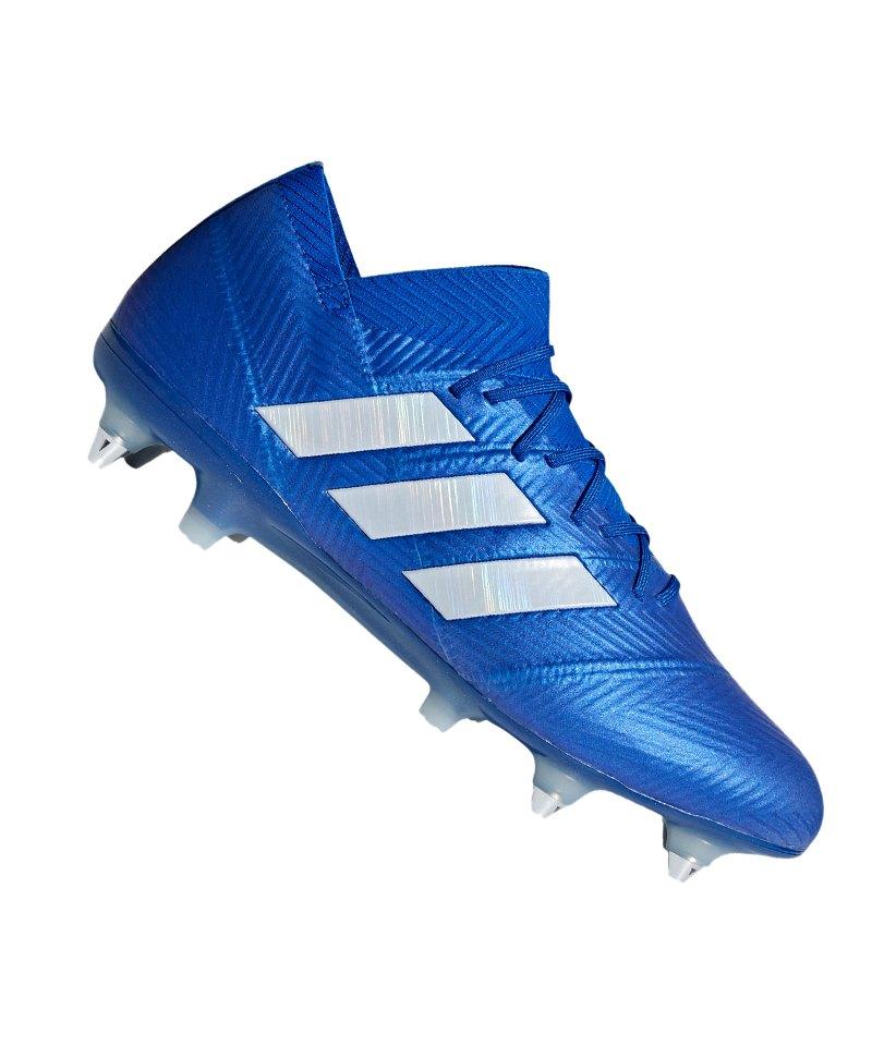 adidas NEMEZIZ 18.1 SG Blau Weiss - blau