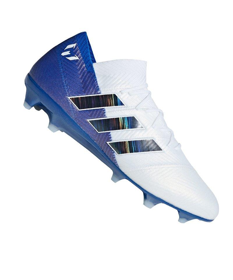 adidas NEMEZIZ Messi 18.1 FG Weiss Blau - weiss