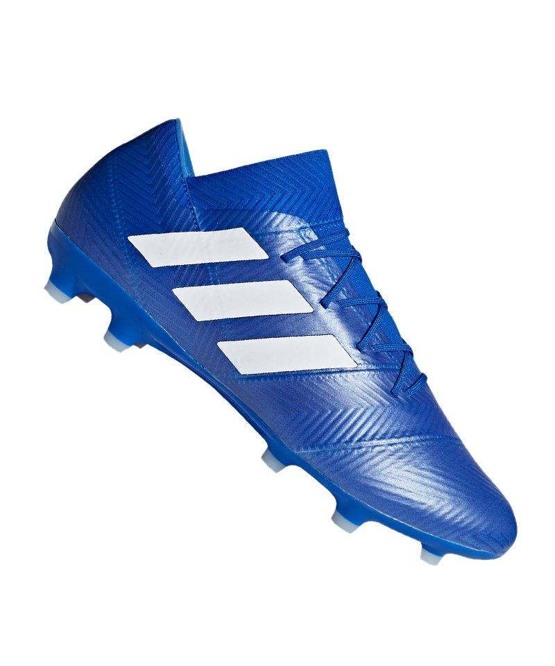 adidas NEMEZIZ 18.2 FG Blau Weiss - blau