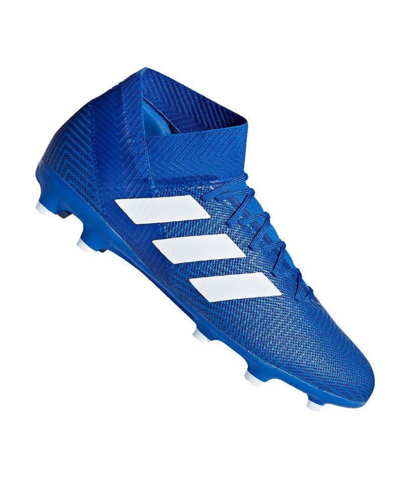 adidas NEMEZIZ 18.3 FG Blau Weiss - blau