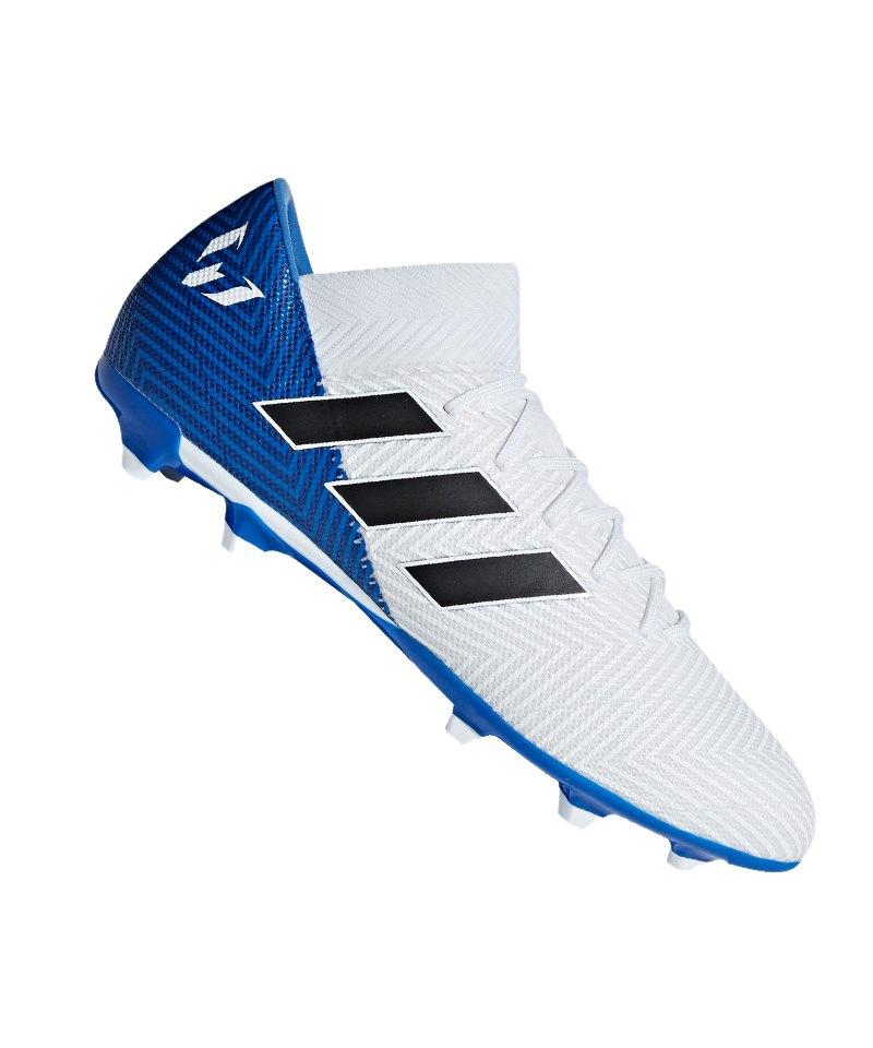 adidas NEMEZIZ Messi 18.3 FG Weiss Blau - weiss
