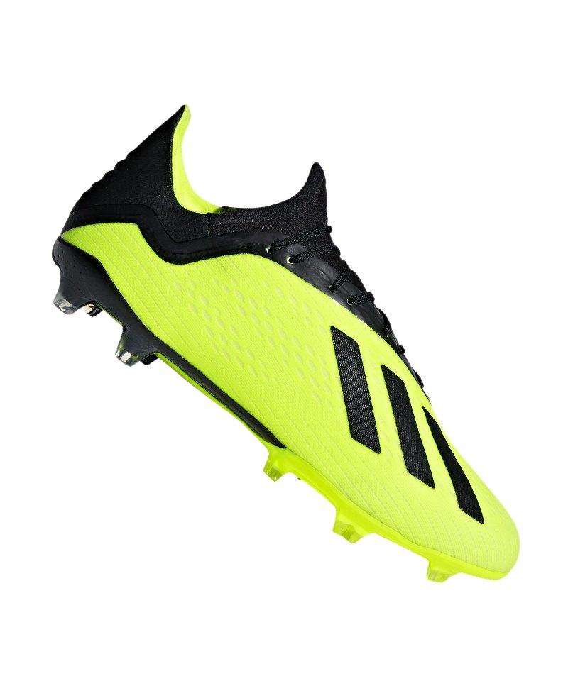 adidas X 18.2 FG Gelb Schwarz - gelb