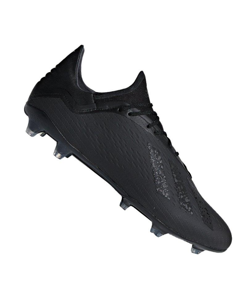 adidas X 18.2 FG Schwarz - schwarz