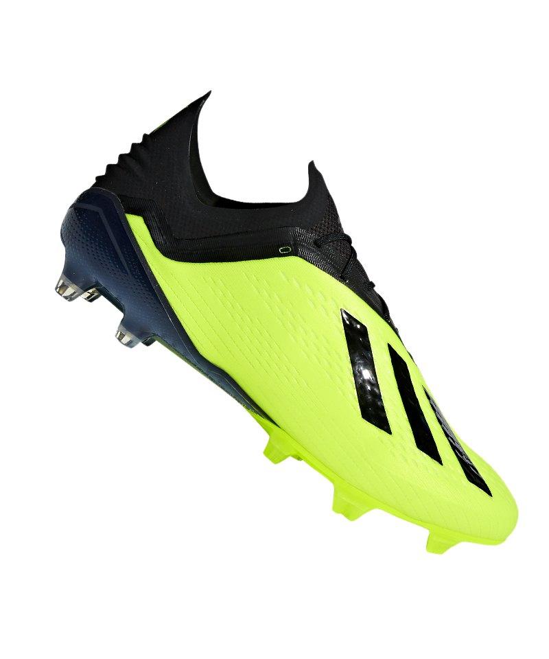 adidas X 18.1 FG Gelb Schwarz - schwarz