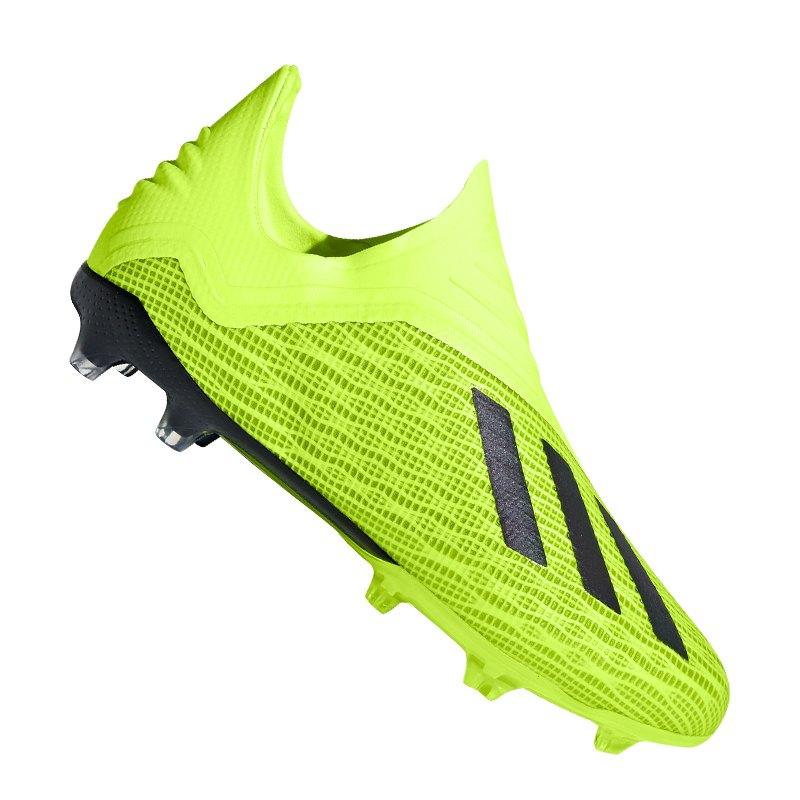 adidas X 18+ FG J Kids Gelb Schwarz - gelb