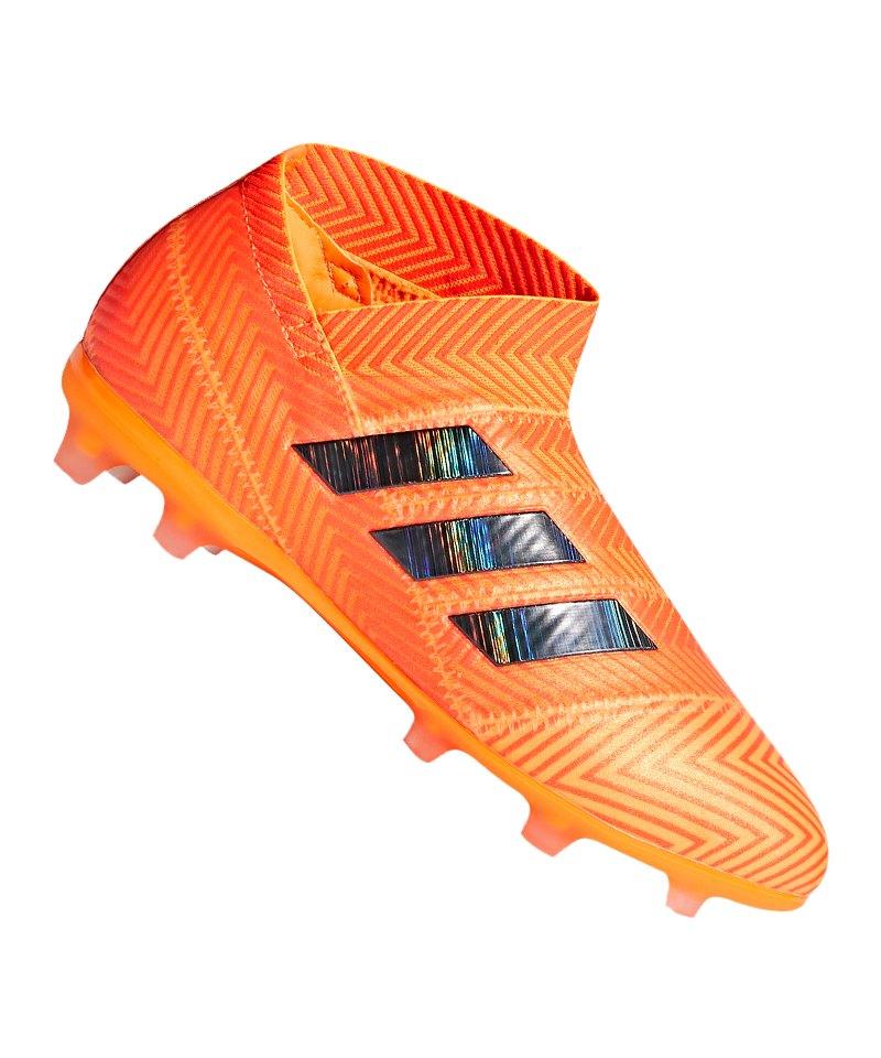 adidas NEMEZIZ 18+ FG J Kids Orange Schwarz - orange