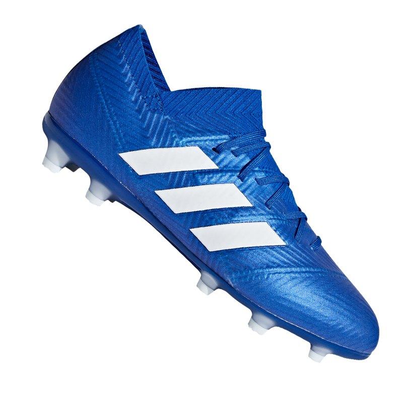 adidas NEMEZIZ 18.1 FG J Kids Blau Weiss Blau - blau