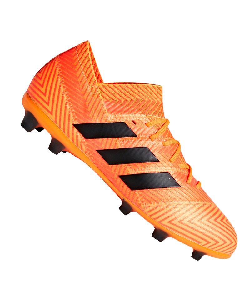 adidas NEMEZIZ 18.1 FG J Kids Orange Schwarz - orange