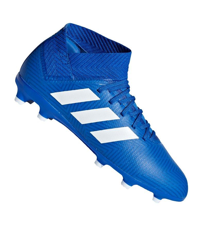 adidas NEMEZIZ 18.3 FG J Kids Blau Weiss - blau