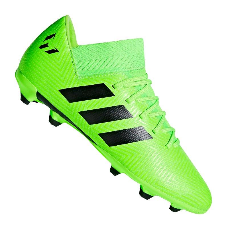 adidas NEMEZIZ Messi 18.3 FG J Kids Grün Schwarz - gruen