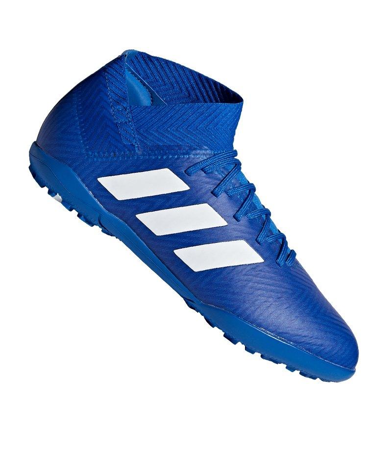 adidas NEMEZIZ Tango 18.3 TF J Kids Weiss Blau - blau
