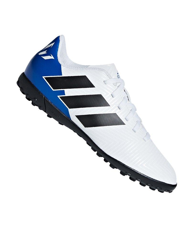 adidas NEMEZIZ Messi Tango 18.4 TF J Kids Weiss - weiss