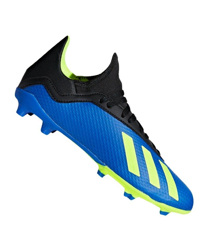 adidas X 18.3 FG J Kids Blau Gelb - blau