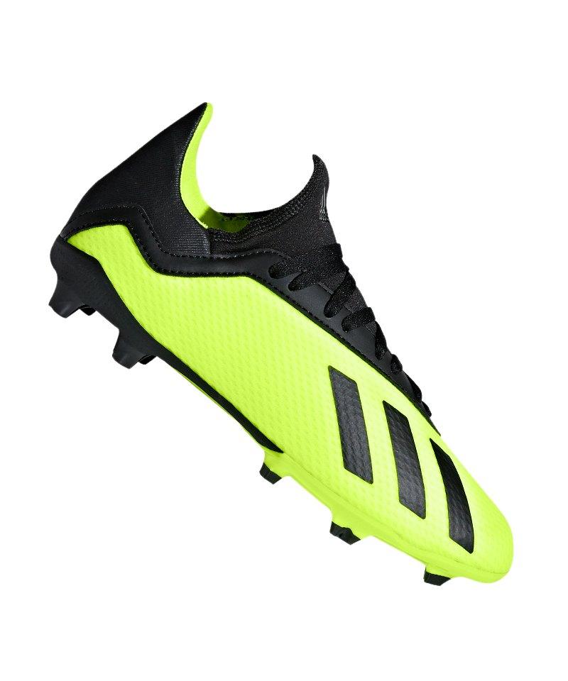 adidas X 18.3 FG J Kids Gelb Schwarz - gelb