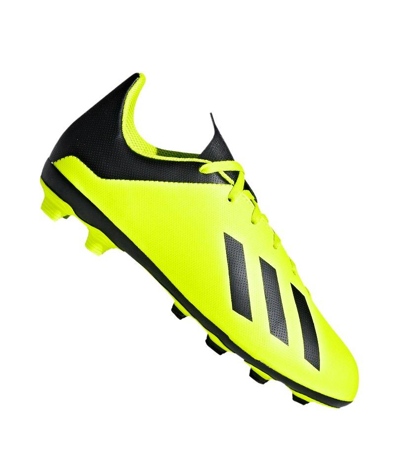 adidas X 18.4 FxG J Kids Gelb Schwarz - gelb