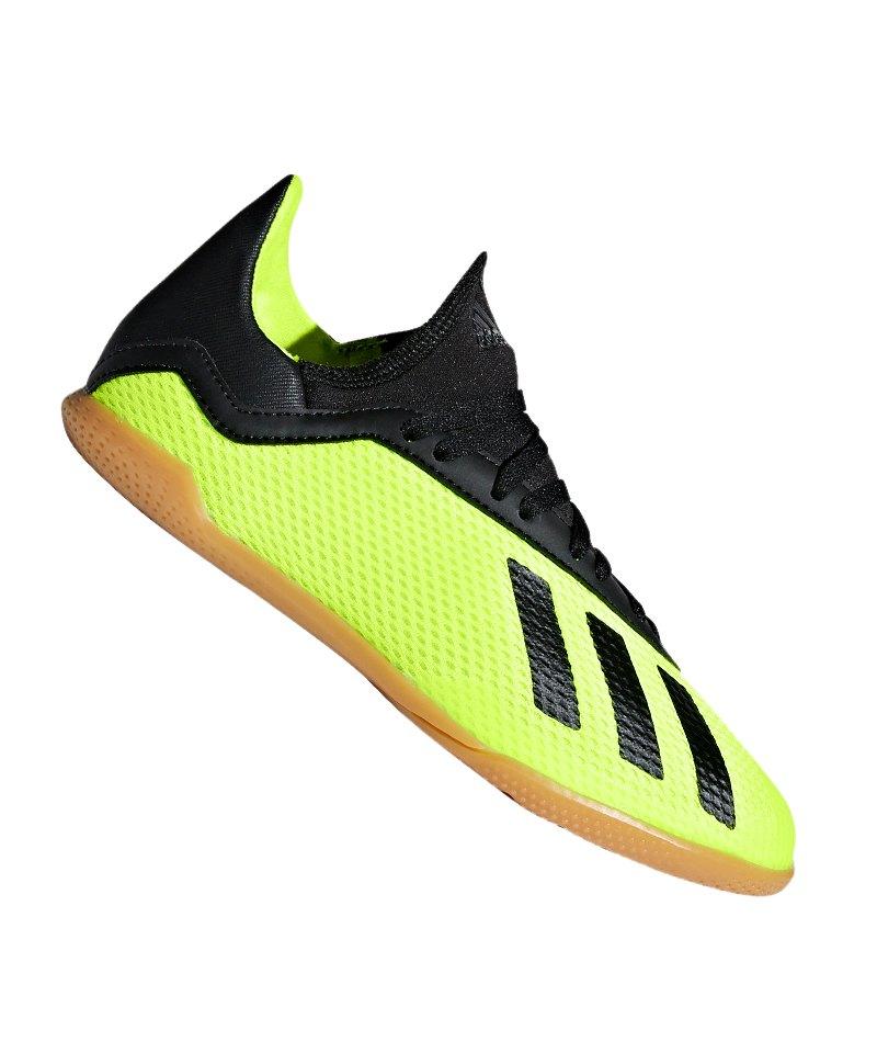 adidas X Tango 18.3 IN Halle J Kids Gelb Schwarz - gelb