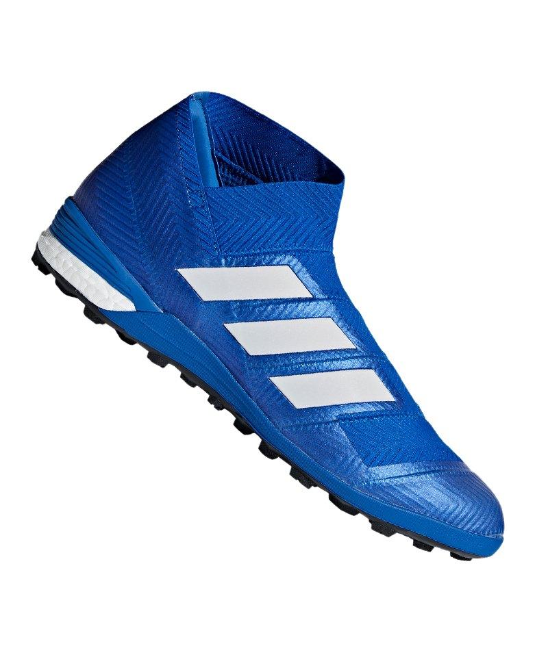 adidas NEMEZIZ Tango 18+ TF Weiss Blau - blau