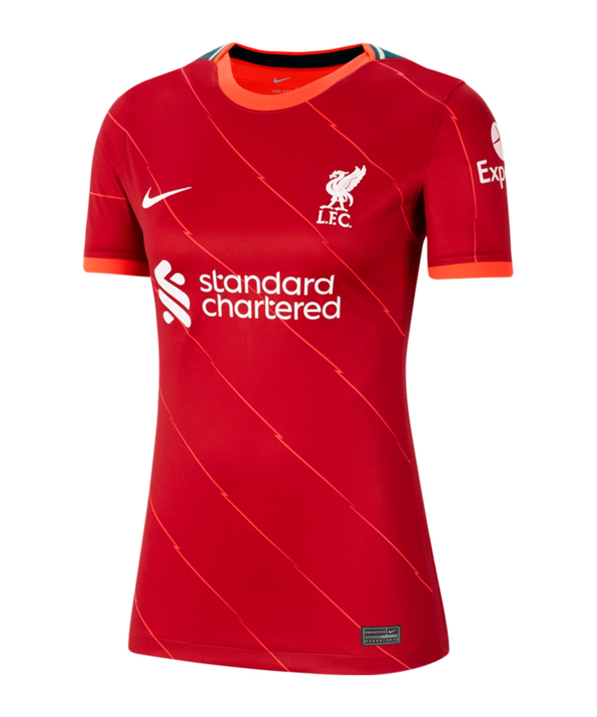 Nike FC Liverpool Trikot Home 2021/2022 Damen F688 - rot