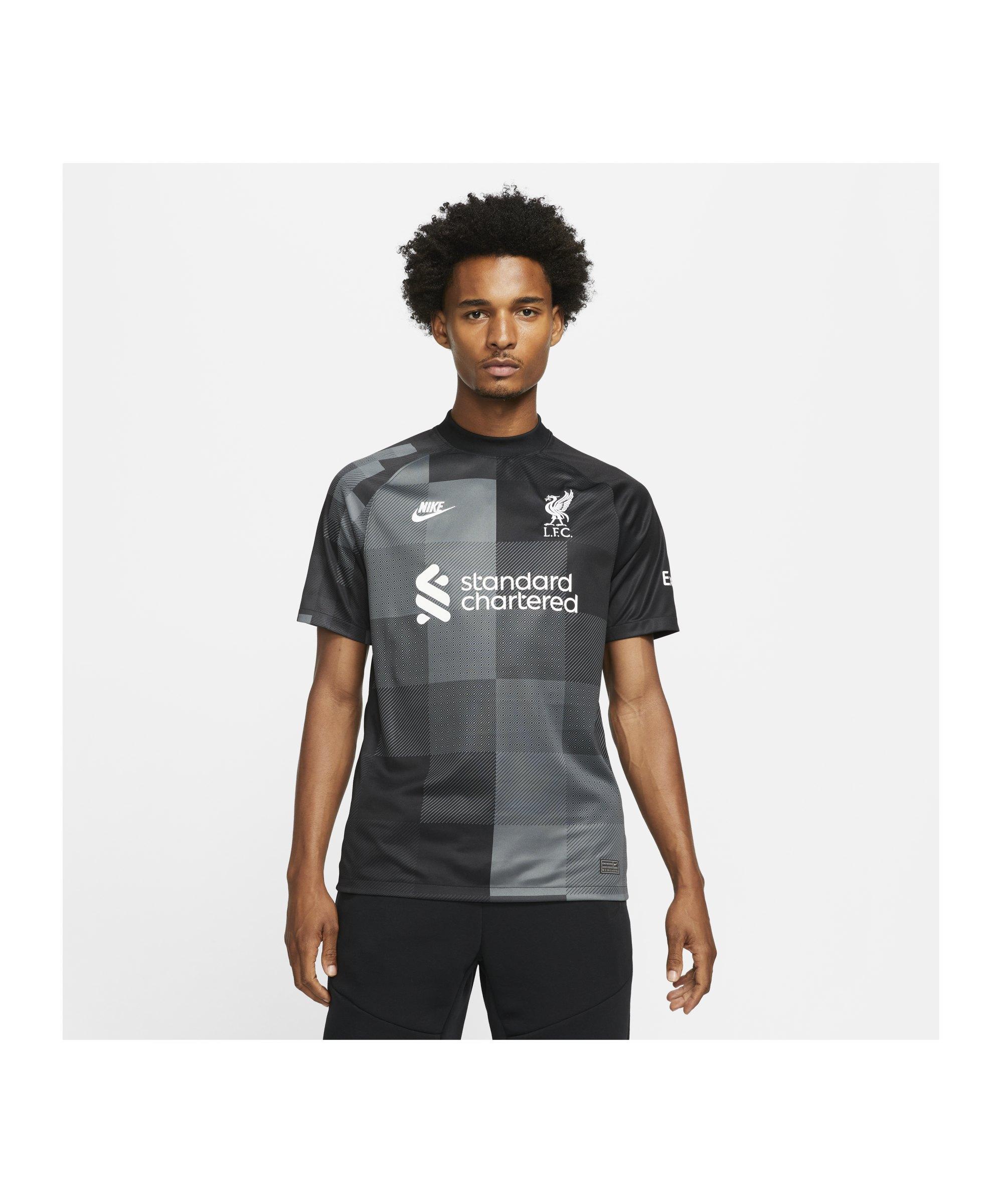 Nike FC Liverpool Torwarttrikot 2021/2022 F011 - schwarz