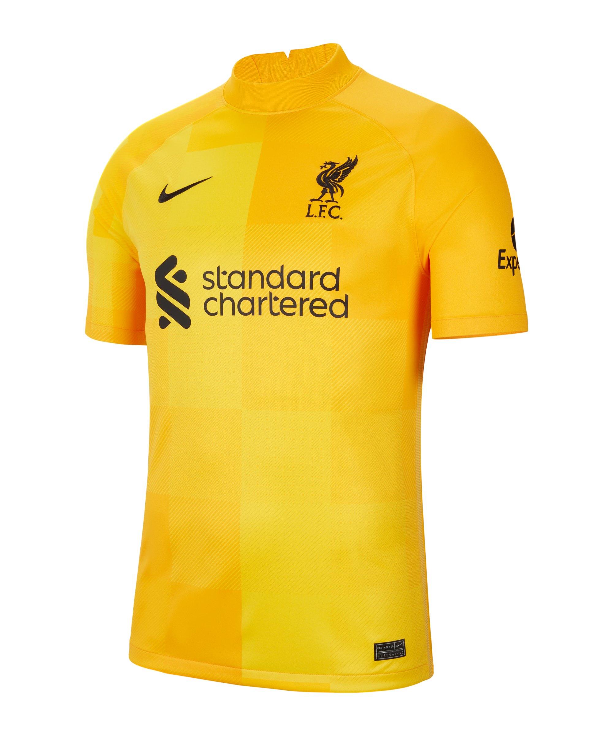 Nike FC Liverpool Torwarttrikot 2021/2022 F740 - gelb